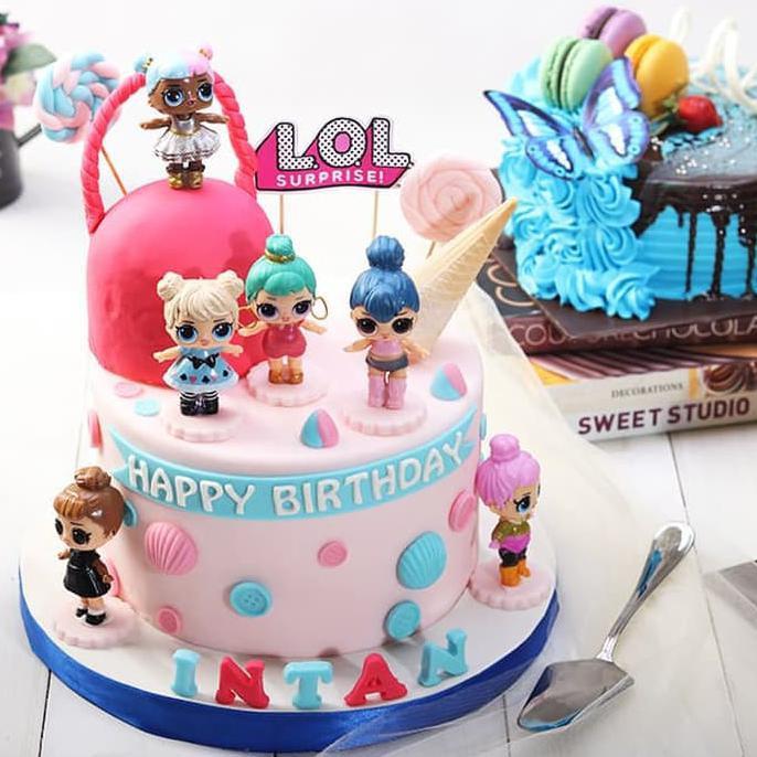 Lol Surprise Kue Ulang Tahun Diameter 20 Cm Murah Dan Enak