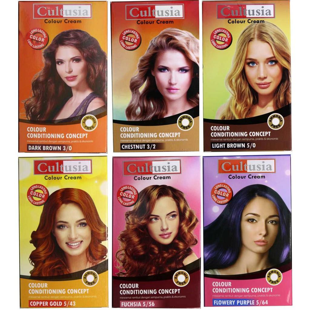 Cultusia Serum Hair Color 110 Ml Daftar Harga Terkini Termurah Mask Fruit 25ml 405060 Colour Cream Pewarna Cat Rambut Ammonia Free