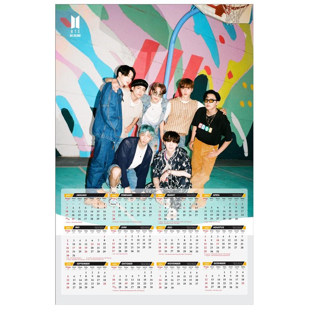 25 Kalender Poster BTS Tahun 20   Shopee Indonesia
