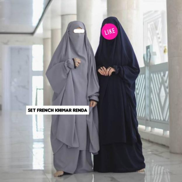 Pasti Puas New Collection Set French Khimar Renda Terbaru Shopee Indonesia