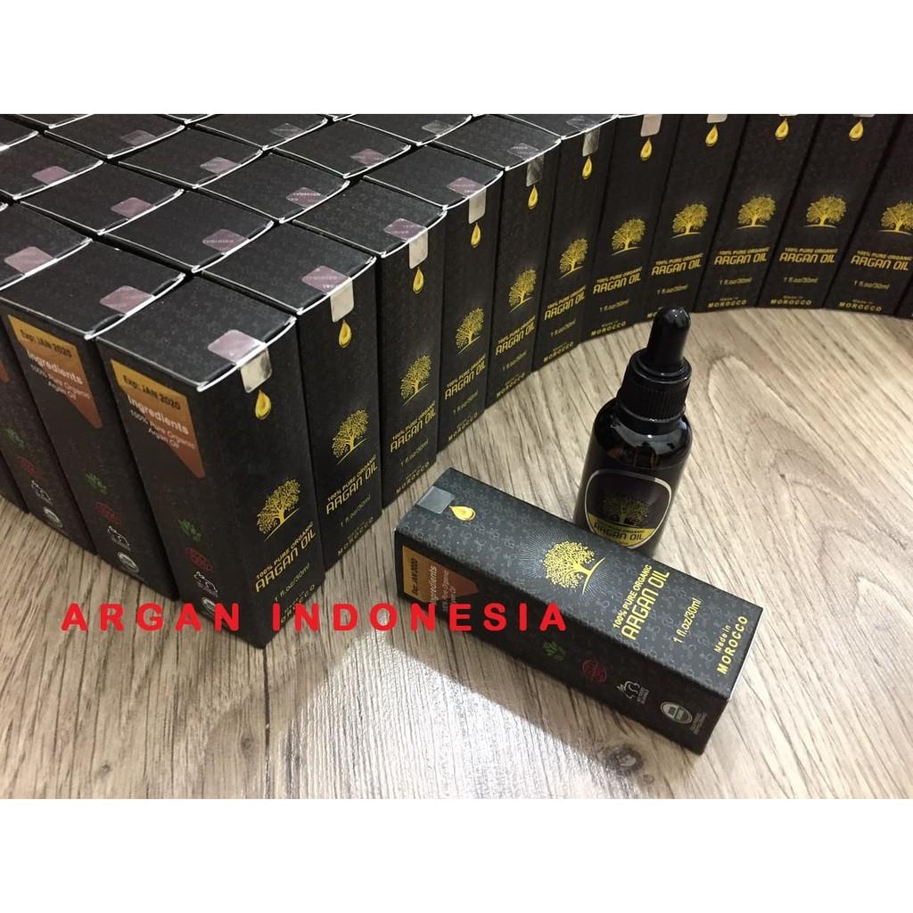 Flasss Saleee 100% Pure Organic Argan Oil / Minyak Argan Asli Murni Morocco 30Ml Terlaris | Shopee Indonesia