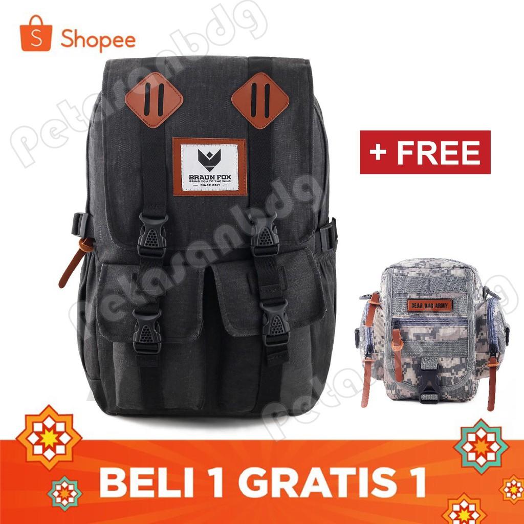 Respect Soldier Backpack Dark Grey Review Harga Terkini Dan Celana Sepeda 78 Hardside Voyager Darkgrey Braun Fox Armadillo Canvas Casual Laptop Shopee Indonesia