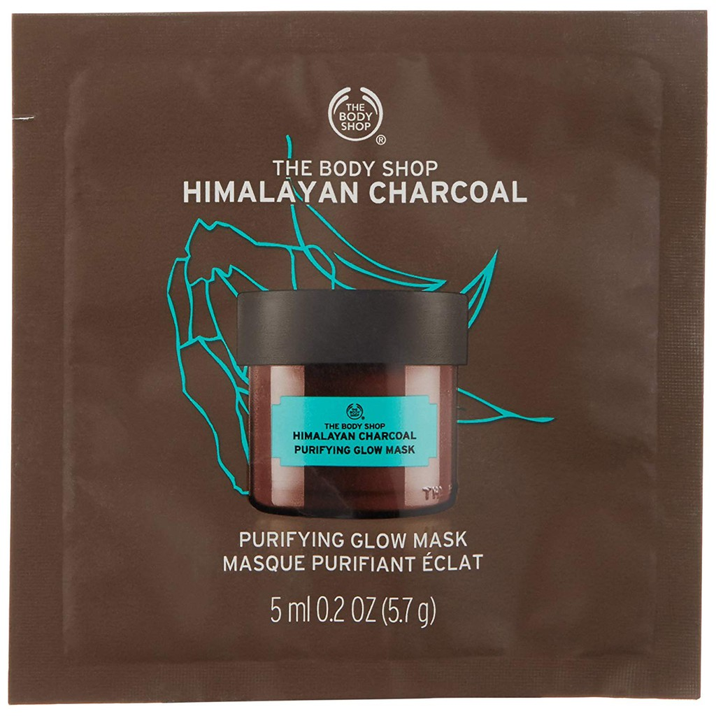 The Body Shop Himalayan Charcoal Purifying Glow Mask 5ml Sachet Shopee Indonesia