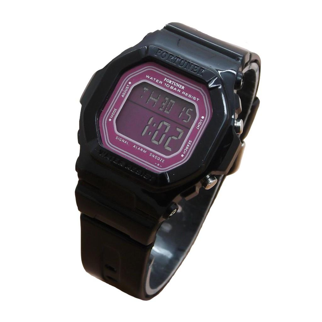 Fortuner Digital Watch 1109 Orange - Rubber Strap - Jam Tangan Sport Anak dan Remaja Putri | Shopee Indonesia