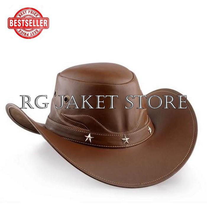 Topi Tompi kulit pria asli garut   topi terbaru premium   topi dilan   topi  murah berkualitas super  392a140161