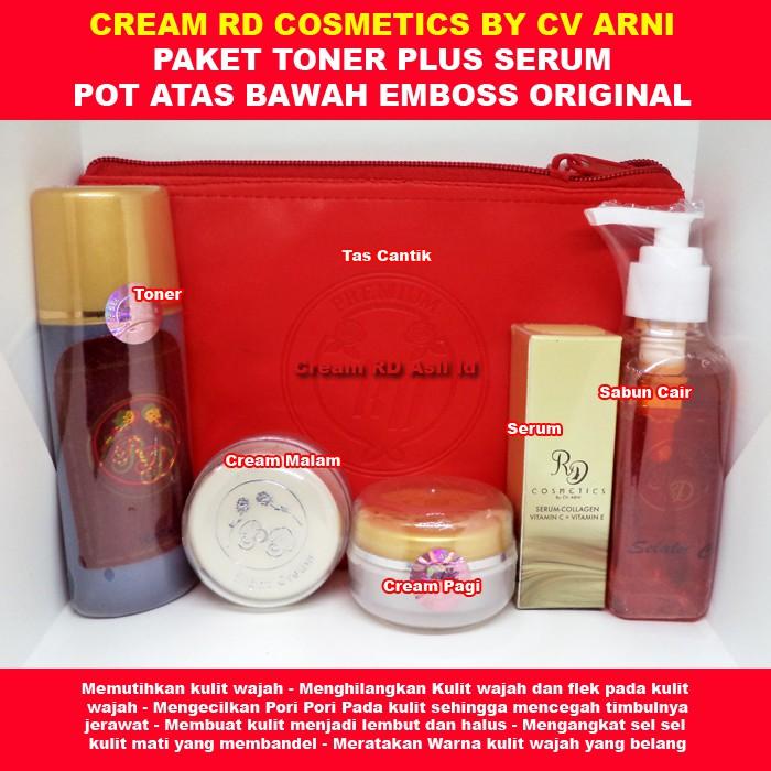 Cream RD Paket Toner plus Serum Original By CV Arni Kemasan Dompet Pouch Asli | Shopee Indonesia