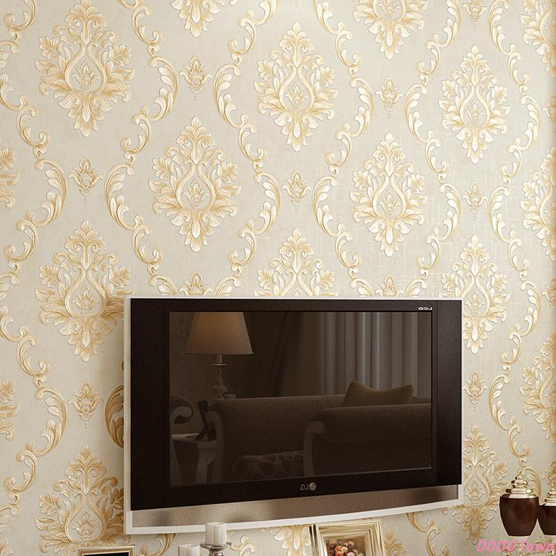 Dt 3d Tiga Dimensi Timbul Eropa Non Woven Wallpaper Mewah High End Ab Versi Kamar Tidur Ruang Tamu Shopee Indonesia