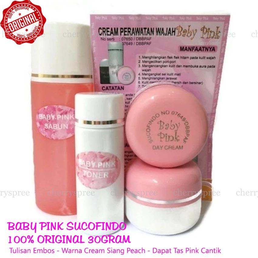 Baby Pink Cream Sucofindo Original Embos Cream Pemutih Wajah Racikan Dokter Whitening Muka Cantik   Shopee Indonesia