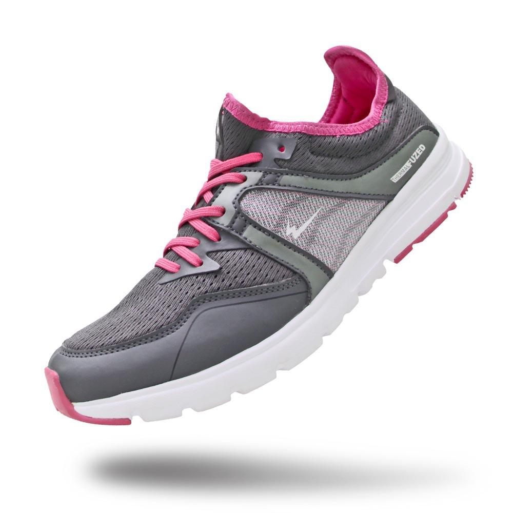 Sepatu Eagle Velove Dark Grey Fuschia – Sepatu Lari Wanita
