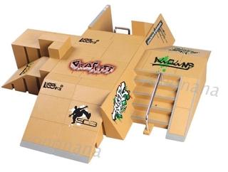 11pcs Kit Skate Park Ramp Part Untuk Tech Deck Fingerboard Mini Finger Skateboard Shopee Indonesia