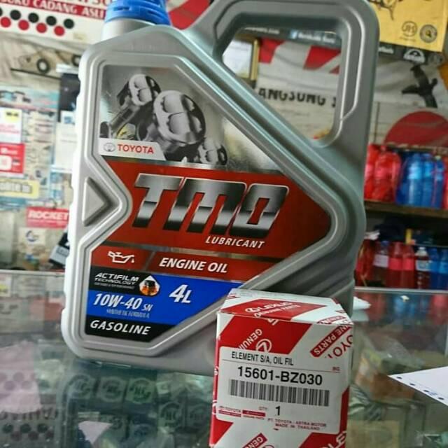 Paket Ganti Oli Mobil Toyota Tmo 10w 40 Oli Untuk Avanza Xenia Calya Sigra Agya Ayla Rush Shopee Indonesia