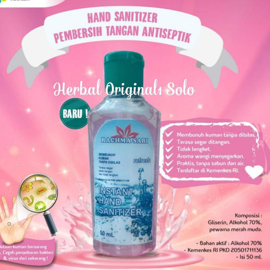 Promosi Menarik Hand Sanitizer Instan Rachmasari Pembersih Antiseptik Original 50 Ml Khasiat Ampuh A Shopee Indonesia