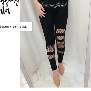 Legging Jala Import Legging Jaring Legging Motif Legging Sobek Shopee Indonesia
