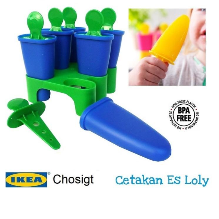 Cetakan Es Loli Isi 4 BPA Free - Ice Lolly Maker - ikea chosigt | Shopee Indonesia