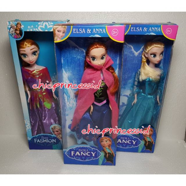 Boneka barbie frozen elsa anna mainan anak cewe perempuan import murah kado  hadiah ultah  271640aa44