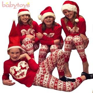Matching Christmas Pajamas.Family Matching Christmas Pajamas Set Elk Long Sleeve Mom Dad Kids Outfits Set