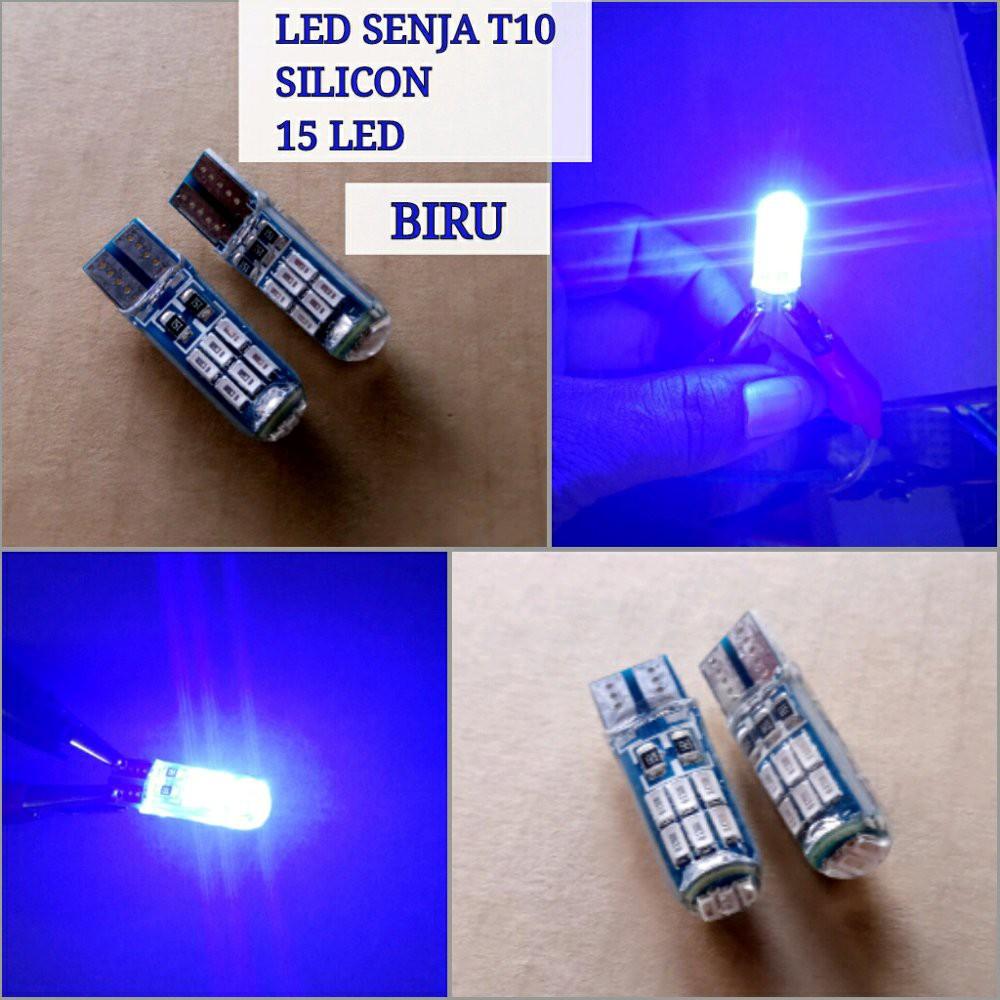 Lampu Led Seja T10 Plasma Pv Blue Icee Shopee Indonesia Cob Silica Silokon Super Terang