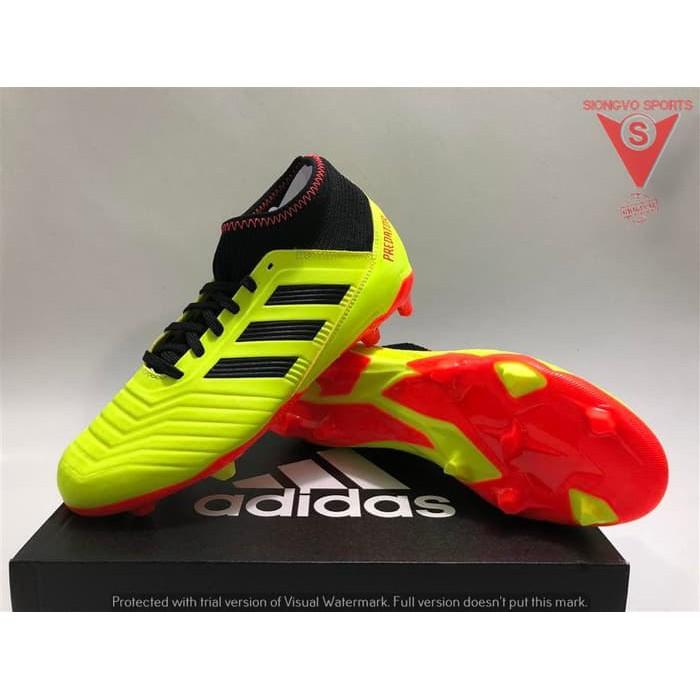 Sepatu Bola Anak Adidas Predator 18 3 Jr Fg Original Db2319 Wc