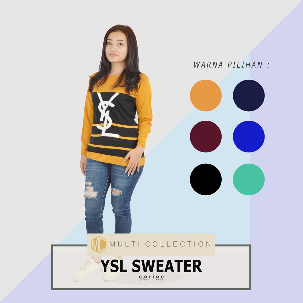 Raida Sweater Rajut Baju Korea Grosir Knit Atasan Wanita  Pakaian Rawis Shopee Indonesia
