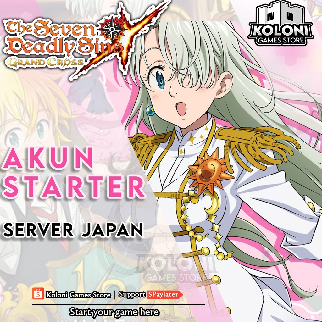 Akun Starter Seven Deadly Sins Grand Cross 7DS JAPAN
