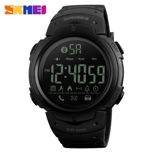 jam tangan pria sport smart watch skmei pedometer smartwatch 1301 water resist anti air 50m