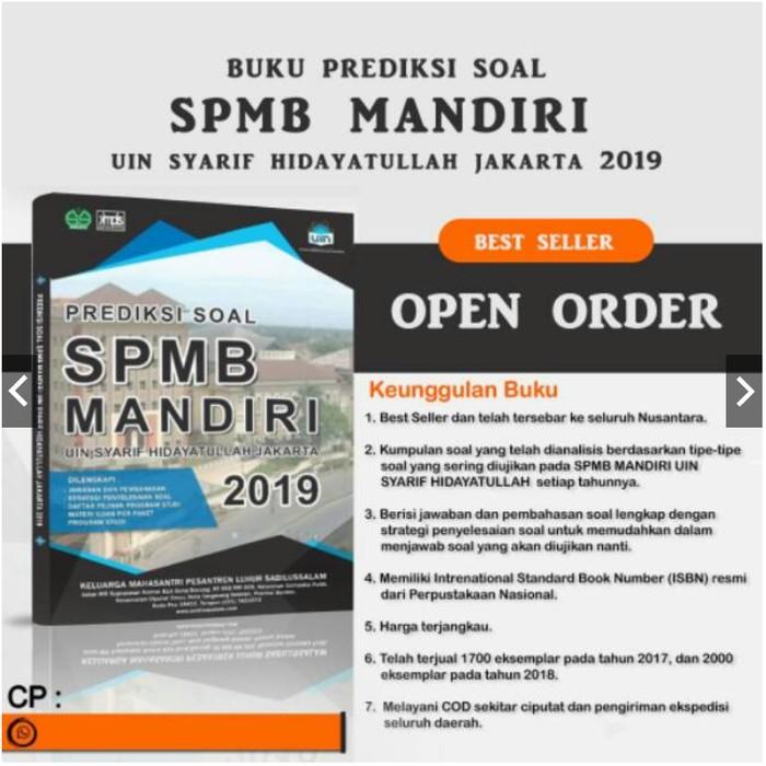 Buku Spmb Uin Jakarta Syarif Hidayatullah Prediksi Soal Mandiri Bk2475 Shopee Indonesia