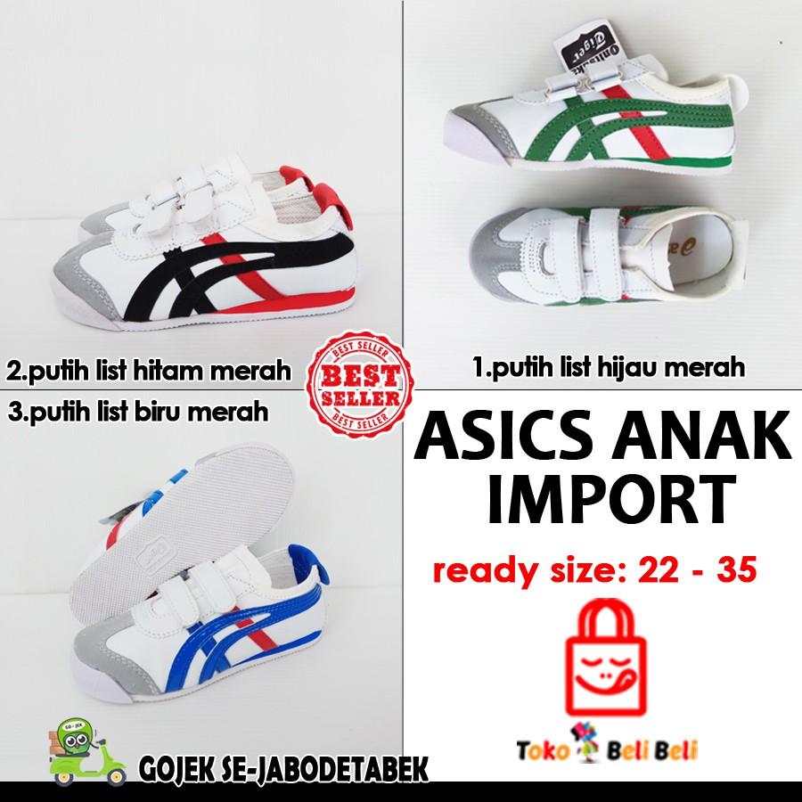 Sepatu Sneakers Asics Onitsuka Tiger Perekat Shopee Indonesia Anak Asic Spatu  Sport Olahraga Sekolah