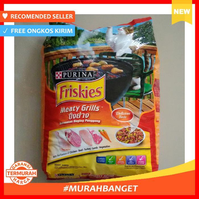 FRISKIES Meaty Grill 1.2kg + 1 Wet Can (random) + 1 Party Mix (random) + Multi Storage | Shopee Indonesia