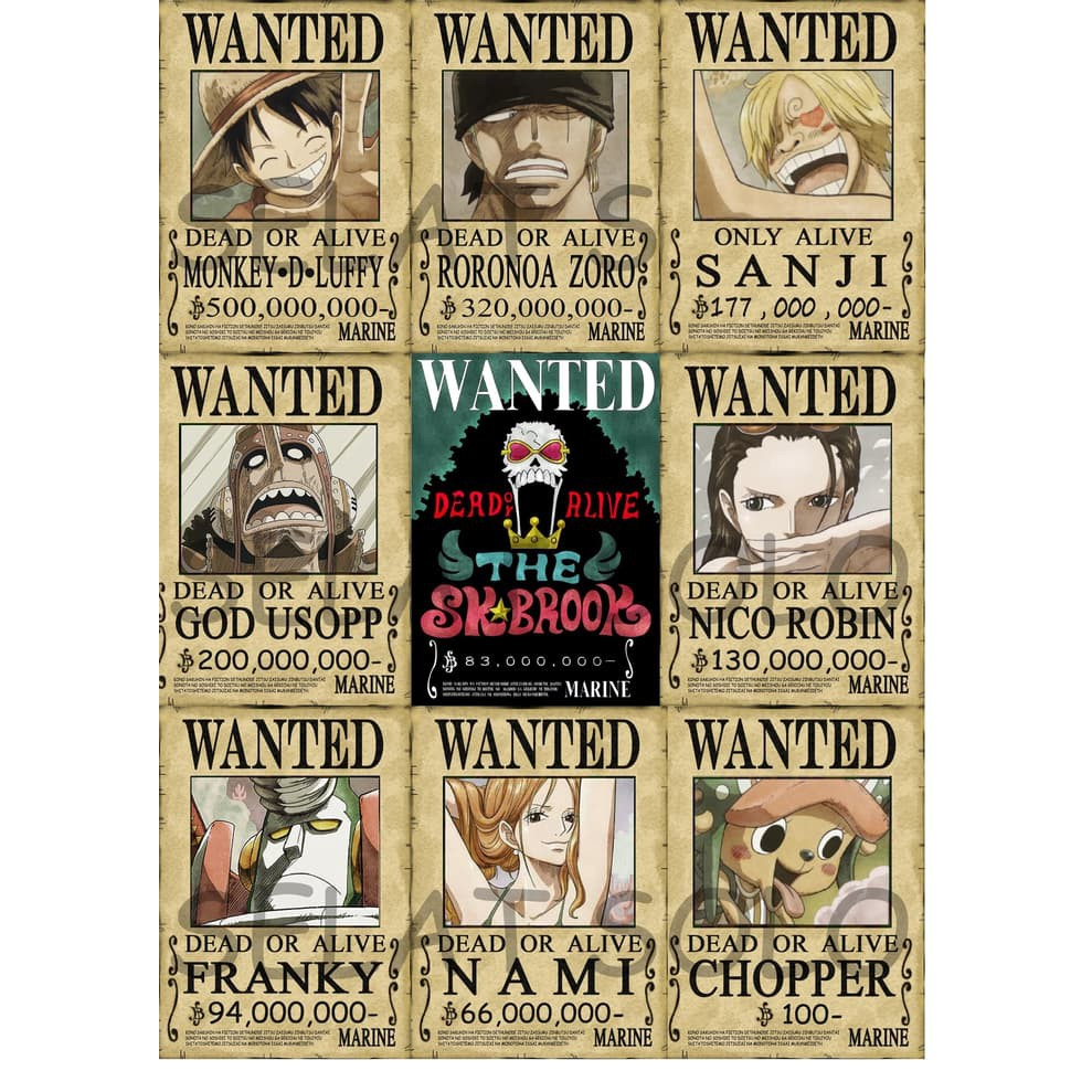 Wall Decor One Piece Poster Buronan One Piece Shopee Indonesia