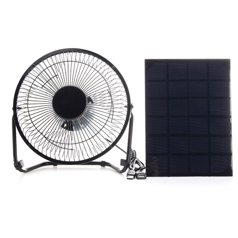Solar Power Fan >> Solar Panel Powered Greenhouse Usb Interface Ventilation Silent Mini Fan