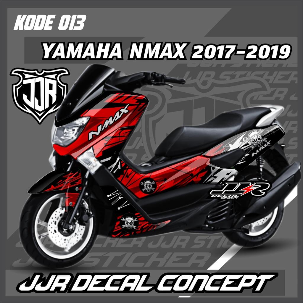 Stiker Decal full body Yamaha NMAX OLD Merah Hitam merah kuning