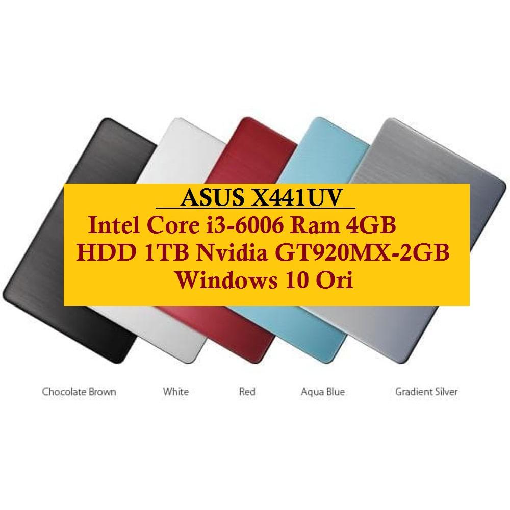 Asus Vivobook X441uv Core I3 6006 4gb 1tb Nvidia Gt920mx 2gb X441ua Wx095d Notebook Black 14ampquot 6006u 500gb Dos Windows 10 Shopee Indonesia