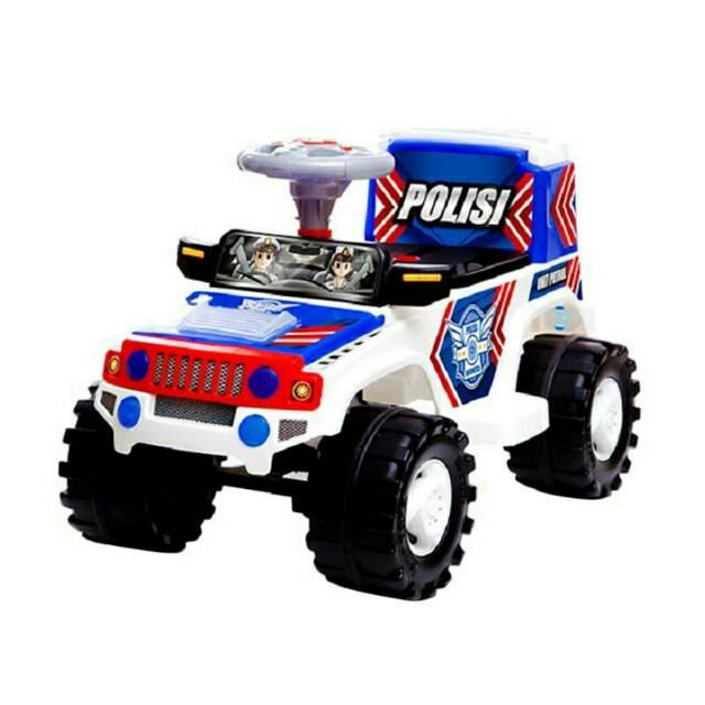 B3c969 Sjr 600 Mainan Anak Mobil Dorong Shp Polisi Jeep Shopee Indonesia
