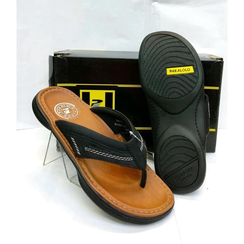 sandal kulit asli pakalolo N 0871 brown.original pakalolo | Shopee Indonesia