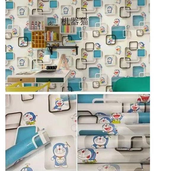 Xtracb Wallpaper Dinding Doraemon 3d 500 Walpaper Doraemon Wallpaper Dora Emon Shopee Indonesia