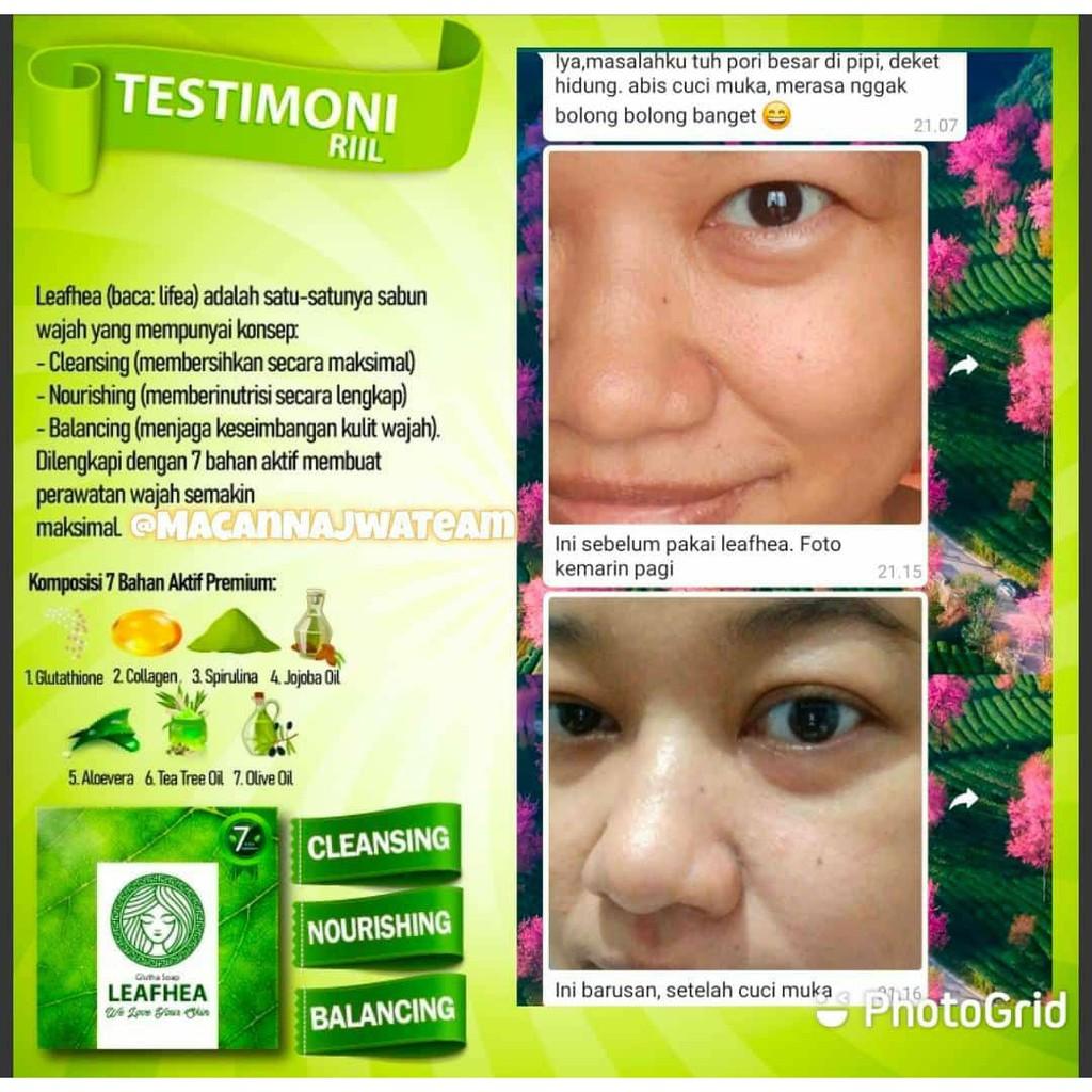 Leafhea Glutha Soap Sabun Penghilang Jerawat Sabun Wajah Ampuh Shopee Indonesia