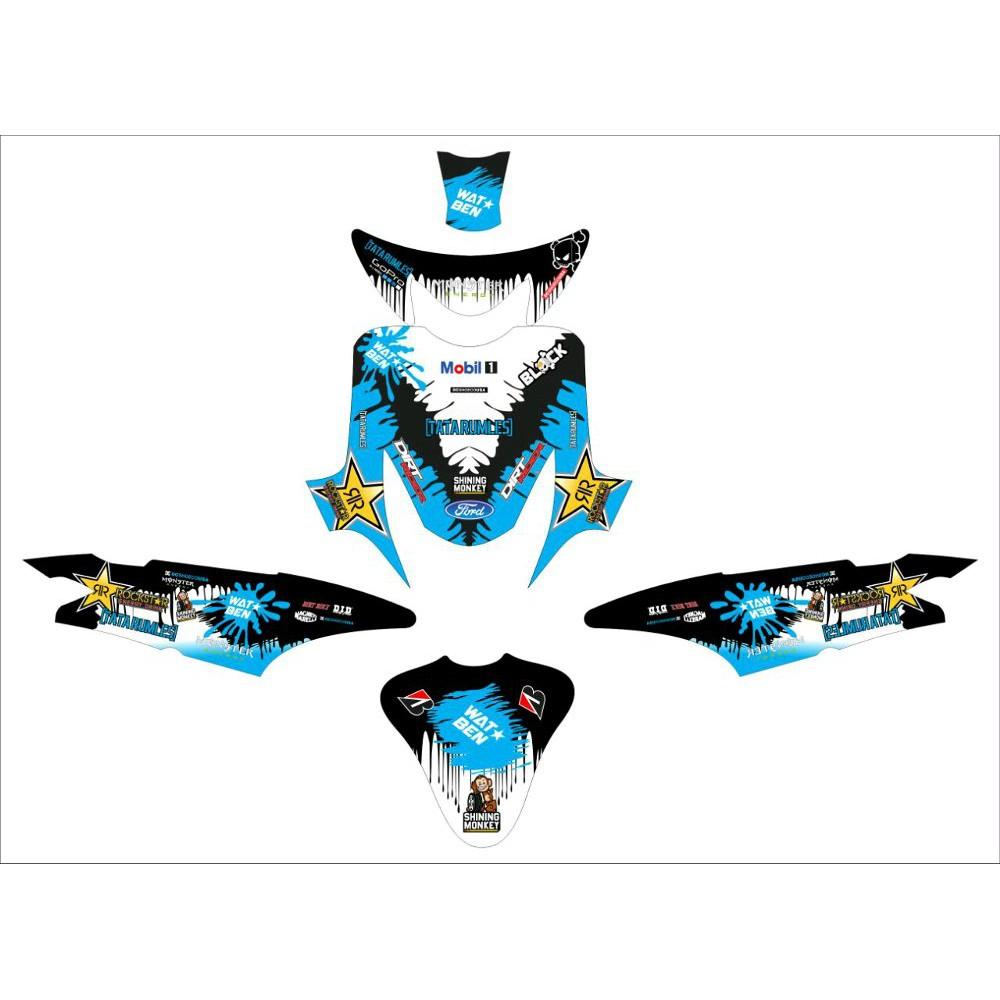 Stiker decal mio sporty black blue terlaris