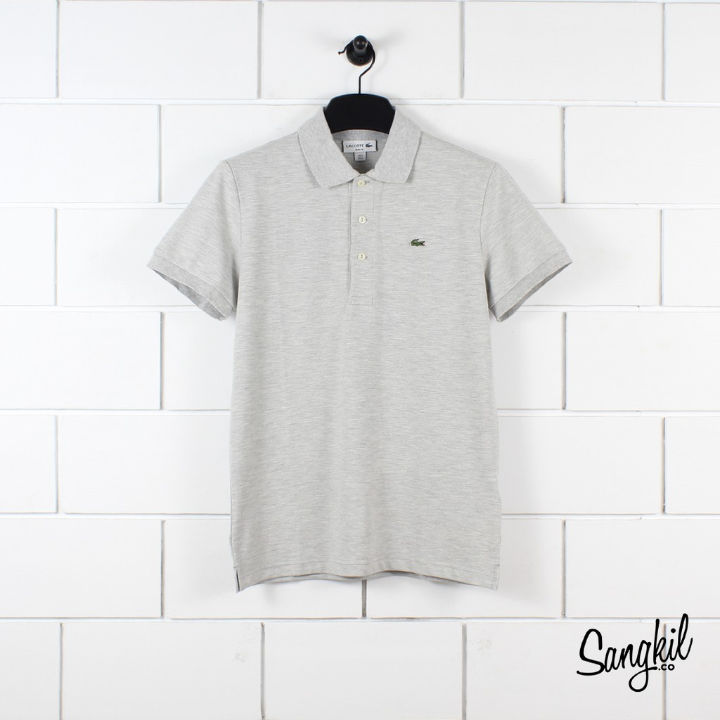 Lacoste PH7937 Slim Fit Cotton Short Sleeved Polo Shirt White   Shopee  Indonesia 1ba31f63b0