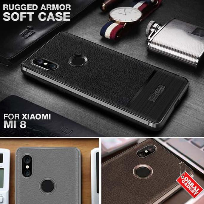 DESIGN ARMOR CASE SAMSUNG J8 2018 HARD & SOFT SOFTCASE HARDCASE CASING COVER - HITAM *