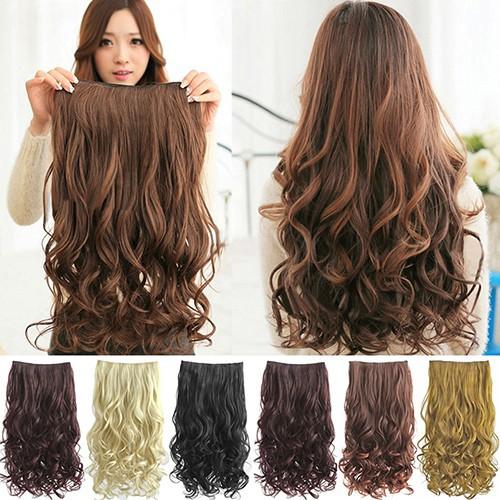 Bayar Di Tempat Wig Rambut Palsu Jepit Bagian Depan Poni Wanita Model  Lurus  0f4915b676