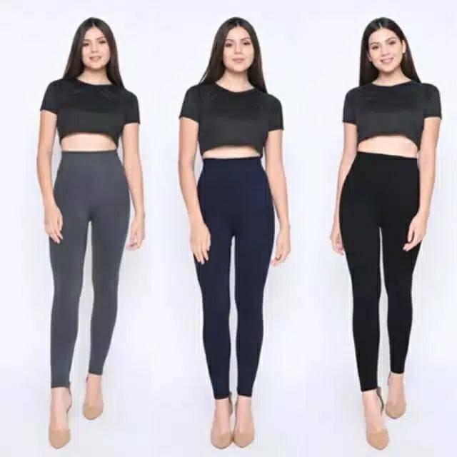 Celana Legging Tebal Import Celana Leging Wanita Strech High Quality Shopee Indonesia