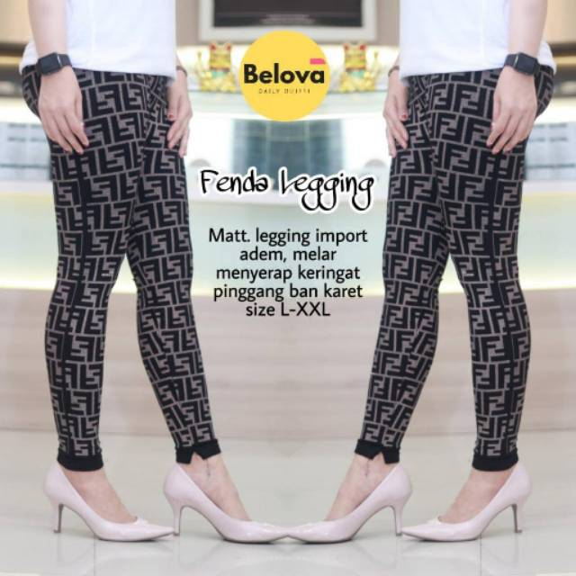 Fenda Legging Celana Legging Fendi Celana Shopee Indonesia