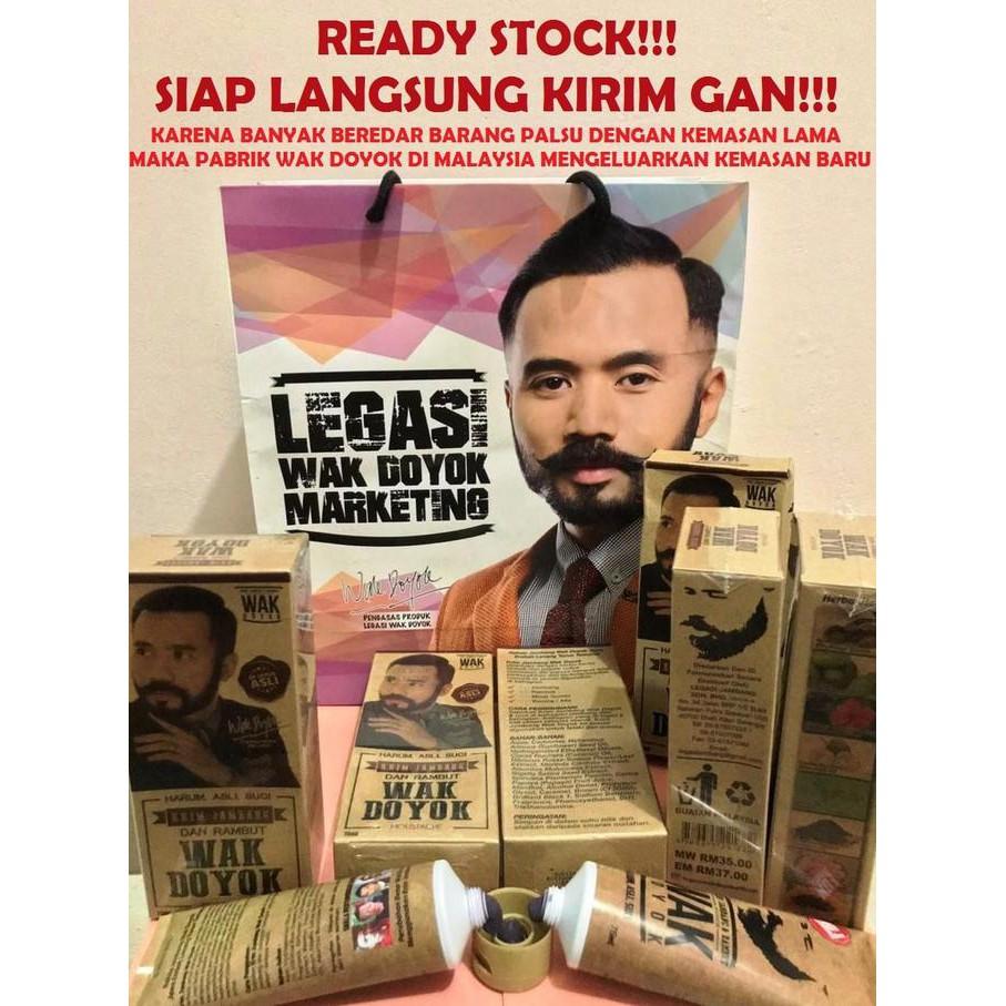 Wak Doyok Krim Penumbuh Jambang Dan Rambut Original 100 Free Minyak Cream Kemiri Zaitun Dll Jenggot Kumis Pelebat Alis Spt Malaysia Wakdoyok Masker Aman Shopee Indonesia