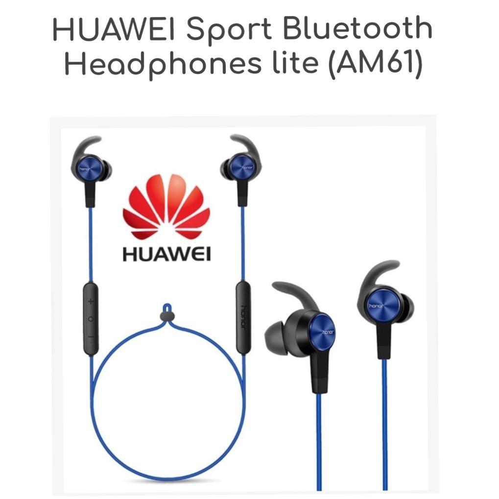 8cf726a0669 Headset Bluetooth Huawei Honor Sport Headphones Lite Magnetic xSport AM61 |  Shopee Indonesia