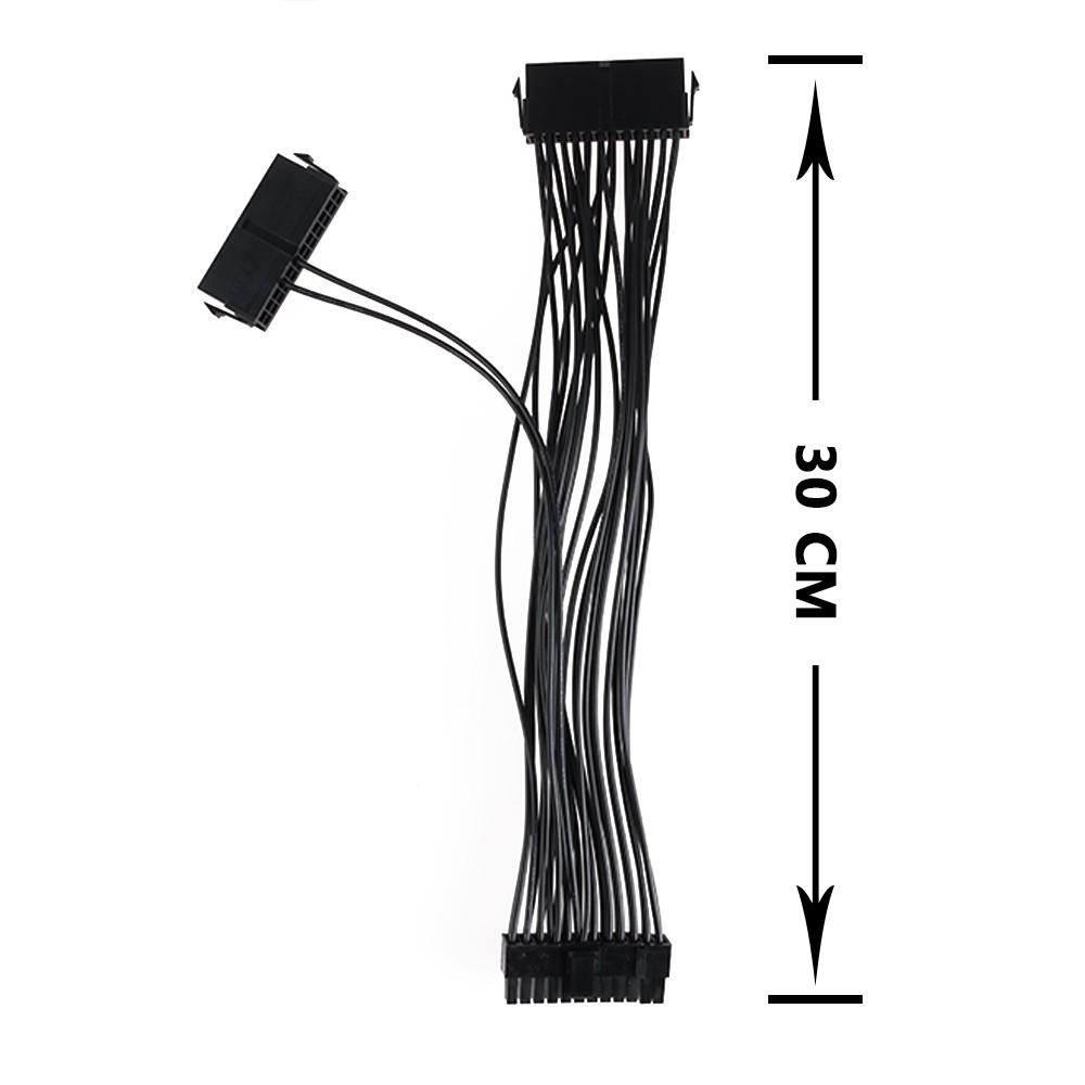 Atx Mining 24 Pin Dual Psu Power Supply Extension Cable 24pin 20 Kabel Relay Penghubung 2 Untuk Gaming 4pin Shopee Indonesia