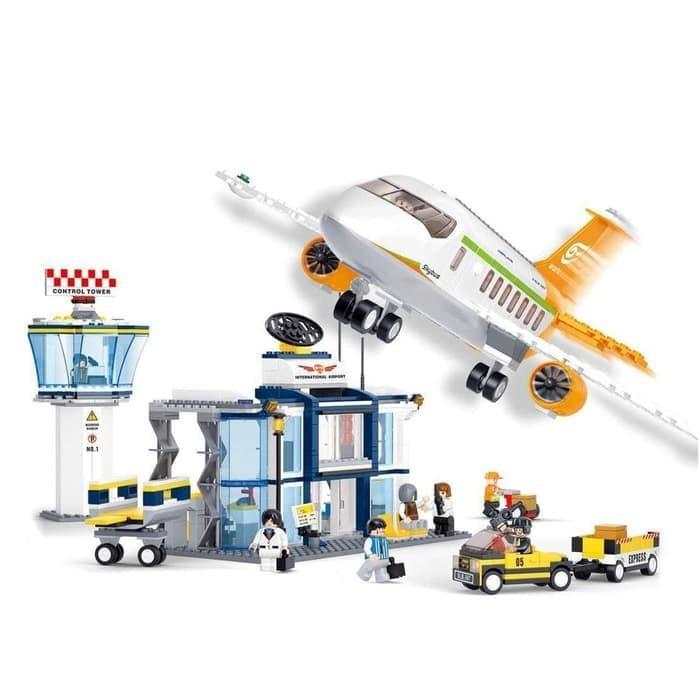 BRICK LEGO Pesawat Terbang Airport Sluban International ...