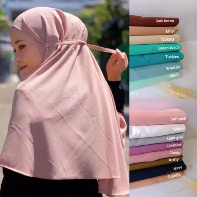 Daily Hijab Bergo Maryam Khimar Instan Kerudung Tali Jilbab Diamond Shopee Indonesia