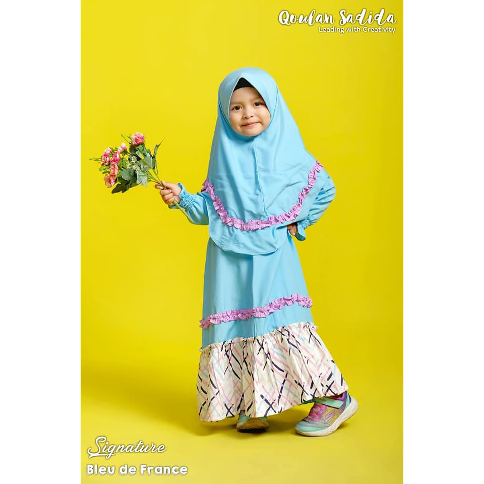 Gamis Anak Bleu de France Signature Series by Qoulan Sadida