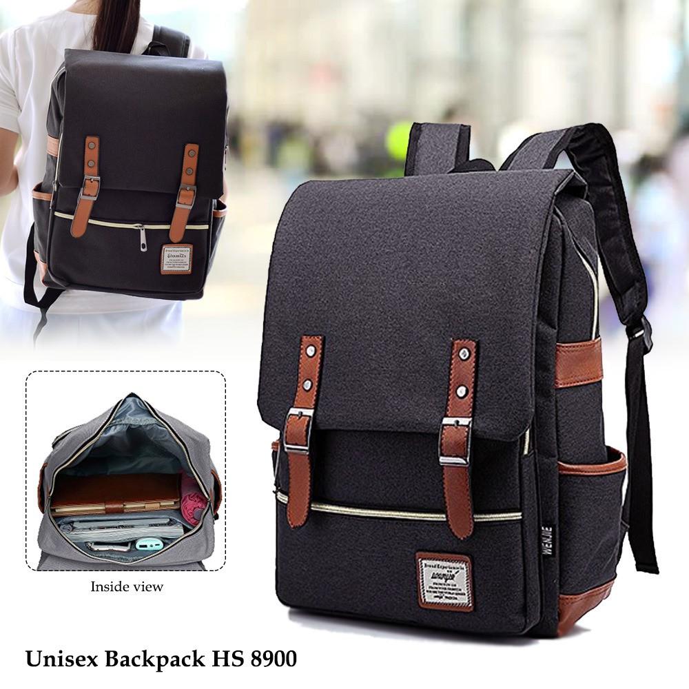 Tas Ransel Unisex Best Seller Tas Punggung Backpack Kanvas tas Ransel  Laptop import HS-8900  1987806c94