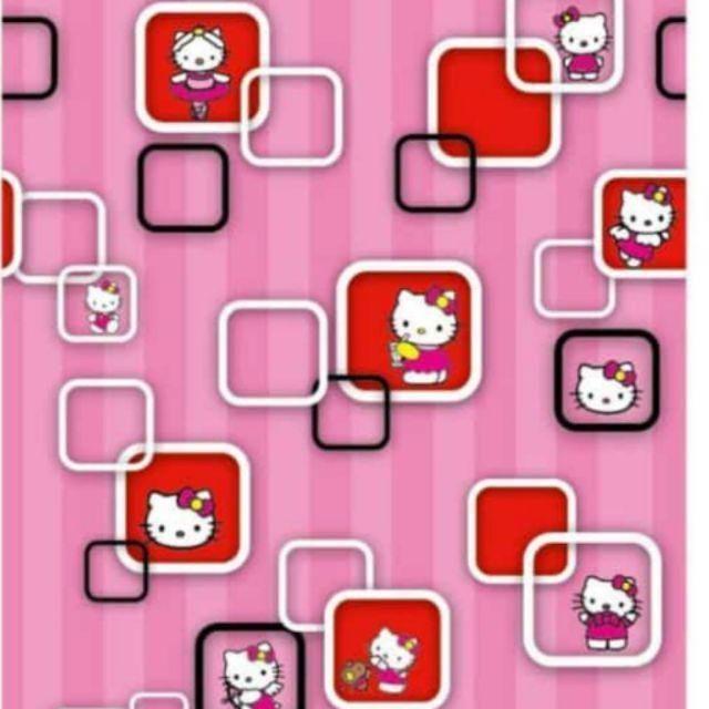 Wallpaper Dinding Hk 3d Kotak Pink 45 Cm X 10 M Shopee Indonesia